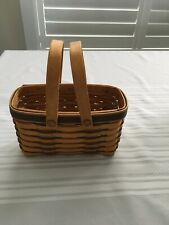 Longaberger Picture Perfect Basket - Blue Weave with Protector
