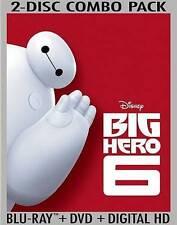 Big Hero 6 (Blu-ray/DVD, 2015, 2-Disc Set, Includes Digital Copy) Brand New