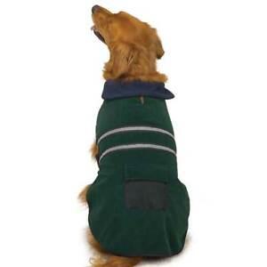 FLEECE REFLECTIVE Dog Pet Barn Coat JACKET Warm Soft Casual Canine MISC SIZES