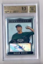 DAVID PRICE 2007 BOWMAN STERLING AUTO ROOKIE RC BGS 9.5 10 RED SOX