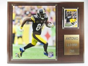 Antonio Brown Pittsburgh Steelers Wood Wall Picture 15in, Plaque NFL Football