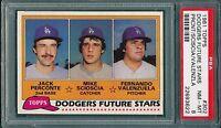 Fernando Valenzuela Mike Scioscia 1981 Topps #302 Rookie Card rC PSA 8 QUANTITY