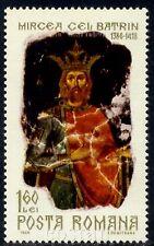 1968 Prince Mircea cel Batran,Mircea the Old,Wallachia,Fresco,Romania,M.2683,MNH