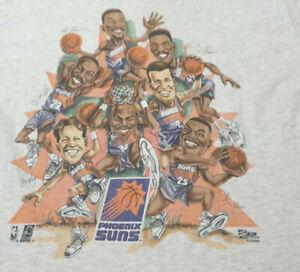 Retro Phoenix Suns caricature 90's shirt Funny Gray Vintage Gift Men Women Tee