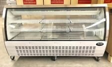 "DELI CASE NEW 72"" 82"" SHOW Curved Glass REFRIGERATOR DISPLAY Bakery Pastry MEAT"