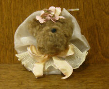 """Hen In The Holly Ornaments #1001 BEAR HEAD, New/tag MADE in the USA 2"""" CHRISTMAS"""