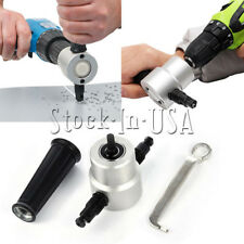Double Head Sheet Nibbler Metal Cutter Saw Cutting Drill Attachment Tool