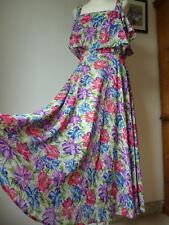 Asos, floral con volantes Frío Hombro Vestido Maxi/Midi, Nuevo, ocasión especial, fiesta de graduación,