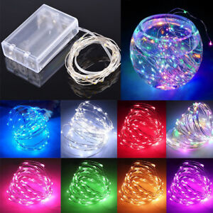 Fairy String Lights Battery Operated Mini LED Copper Silver Wire Xmas Outdoor UK