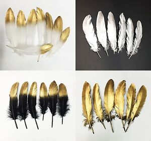 100 pcs 4 colors natural Goose feathers 6-8 inch / 15-20 cm Diy carnival costume