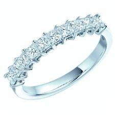 Princess Eternity Platinum Excellent Cut Fine Diamond Rings