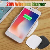 20W Qi Wireless Charger Induktive Ladestation Kabellos Ladegerät Handy Für X/pro