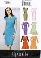 VOGUE Misses' Dress Pattern V8902 Size 14-22 UNCUT
