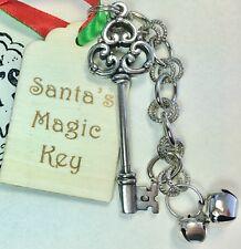 Santa Magical Key Christmas Elf Gift Ornament Decoration Magic Chimney Wish