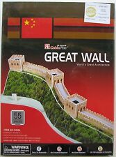 CUBIC FUN...GREAT WALL 3D PUZZLE....55 PIECE...BRAND NEW AND SEALED