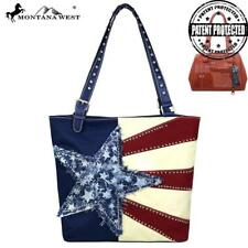 Montana West Concealed Handgun Patriotic Collection Canvas Tote ~ Navy
