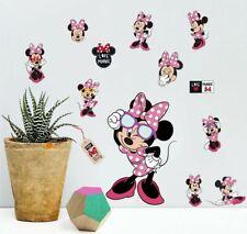 Disney Minnie Mouse Stickers A4 Sheet Childrens Bedroom Cartoon Wall Sticker