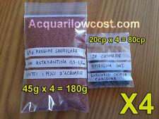 45g x 4 = 180g/480ml Mangime Granulare Astaxantina + 80 tabs spirulina acquario
