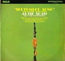 ARTIE SHAW september song INTS 1055 uk rca international 1970 LP PS EX/EX