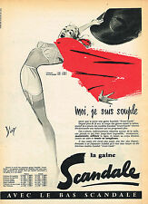 PUBLICITE ADVERTISING 015  1957  SCANDALE 2   gaine par DIAZ