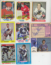 1974-75 OPC WHA SIGNED CARD PAUL HENDERSON TOROS BULLS MAPLE LEAFS RED WINGS 57