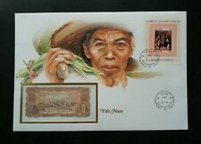 Vietnam Lifestyle 1984 Agriculture Farmer Traditional FDC (banknote cover) *rare