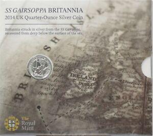 Coin Fine silver Quarter Ounce Britannia 50p Sealed Pack Royal mint AUCT