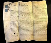 ANTIQUE VELLUM 1702 Thomas Johnson