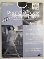 Round the Clock Pantyhose Navy Size D Shaper Control Top New Leg Solutions 785