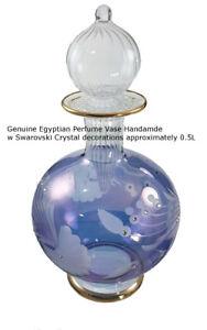 Vintage Vase decorated with Swarovski Crystal  around 25cm High Made in 1995