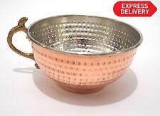 New! Turkish Copper HandMade Hammered Shaving Bowl Mug Brush Safety Razor Holder