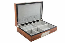 Decorebay high glossy Cufflink Case & Ring Storage Organizer Men's Jewelry Box