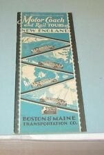 1929 Boston & Maine Transportation Co. Motor Coach and Rail Tours of New England