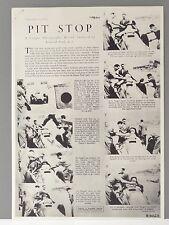 ✇ Pit Stop Boxenstop Szenen von 1951 Silverstone Fangio Fotoserie abfotografiert