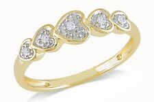18ct Yellow Gold/925 Silver Heart Ring Affici Boxed Gift For Her Love Wife Mum
