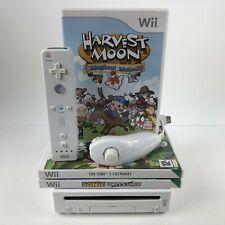 Nintendo Wii Console White Complete + Games Bundle PAL