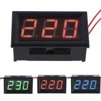 Mini AC 60-500V LED Panel Volt Voltage Meter 3-Digital Display Voltmeter 2-Wires