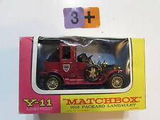 MATCHBOX  MODELS OF YESTERYEAR Y- 11 PACKARD LANDAULET 1912 - LESNEY