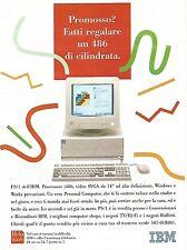 X1880 Computer IBM PS/1 486 - Pubblicità del 1994 - Vintage advertising