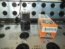 GE Audio Tube 6SN7GTB (ECC33) Tested Strong, gm 5200, Old Stock in Box
