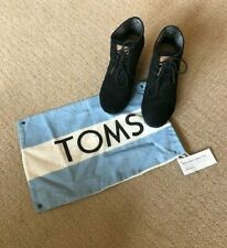 TOMS Black Suede Desert Wedge Lace-Up Ankle Booties, 6.5 M
