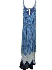 Maurice's Size XL Blue/White Women's Floor Length Dress B