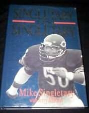 MIKE SINGLETARY CHICAGO BEARS 1991 FOOTBALL BOOK AUTOBIOGRAPHY 1ST EDITION