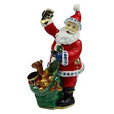 Treasured Trinket Santa Claus with Sack of Presents Trinket Box WBXM594