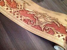 wunderschöne Bordüre Barock ,braun,Beige ,GOLD ,VERSACE 5m lang 17,7 cm breit