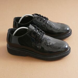 Rocky Mens Pro Cell Duty Oxford Shoes Black Patent Leather Lace Up Size 10.5 M