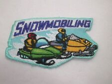 Snowmobile Snowmobiling Embroidered Iron On Patch A