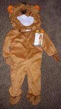 NWT Boys LION Costume Dress Up Size 12-24 Mo Mane Hood Cowardly Suit