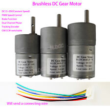Brushless DC Gear Motor DC 12V BLDC Gear Motor PWM CW/CCW Dual Channel Pulse