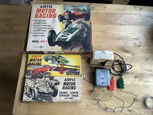 Airfix Motor Racing Set Model M.R.7 plus Jump and Straight Track Accessories